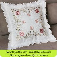 Jacquard Embroidered Decorative Cushion Cover for Sofa