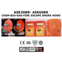 ASE30BR & ASE60BR CHEM-BIO-GAS-FIRE ESCAPE SMOKE HOOD