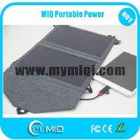 MIQ high efficiency flexible folding solar panels USB charger 12W thumbnail image