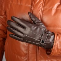 Fashion Womens Touchscreen Winter Outdoor Sport Gloves Driving PU Leather Warm Fleece Line gloves