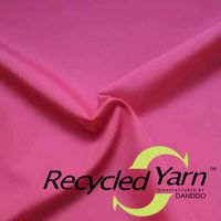 RPET Recycled Yarn Polyester Pongee 75D/50D 55gsm To 75gsm Small MOQ