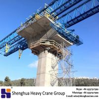 China 200 ton 260 ton 300 ton underslung launching gantry bridge crane machine