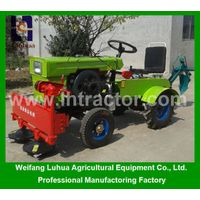 China small farm tractor of 12hp 4 wheel mini farm tractor