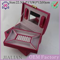 Factory customized high - grade two layers ring jewelry storage box thumbnail image