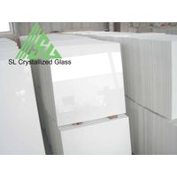 artificial white crystallized glass tile