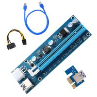 NTH PCIE Riser 009s PCI-E x1 to x16 Express Riser Card for GPU Mining with USB3.0 Cable Extension US