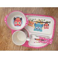 Kids Dinnerware Set Owl Design