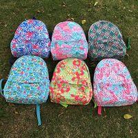 Monogramable Color Blok Backpack Cotton Canvas Kids School Bag thumbnail image