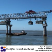 Double girder overhead segmental launching girder equipment for bridge erection