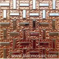 Pink Color Glass Mosaic Tile for Interior Wall Decoration thumbnail image