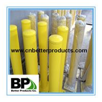 powder coated yellow steel bollard for sale