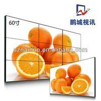 "LG / SAMSUNG 1700cd/M2 60"" LED / LCD Advertising Video Display Screen TV Wall LCD splicing wall"