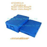 Plastic logistics containers in plastic box