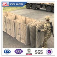 Welded wire mesh hesco defensive bastion