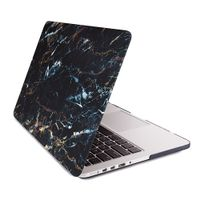 Full Body Protection White Marble Printing Hard Laptop Sleeve Case Cover for Apple Macbook Pro 15 Bl thumbnail image