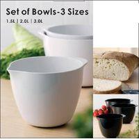 Melamine bowl (white and black)