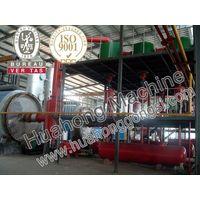 HOT waste tyre refinery machine