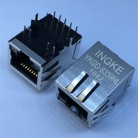 6605444-6 YKGD-8339NL Single Port Through Hole 1000 Base-T RJ45 Connector with Integrated Magnetics