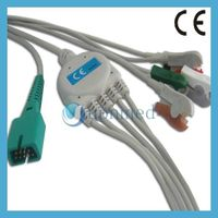 MEK One piece ECG Cable with leadwires