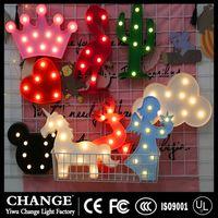 3D Flamingo Pineapple Cactus Unicorn LED Night Lamp Lights for Christmas Party Wedding Decor Gifts thumbnail image