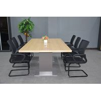 2015 conference table, wood and metal conference table