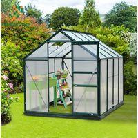Aliminum Garden Greenhosue with PC Panel