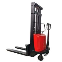 China Factory Price reach 1ton 1.5ton semi-electric pallet Hydraulic Electric stacker crane forklift