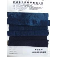 240g Knit denim indigo pique shirt fabric