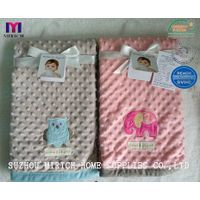 Micro mink Bubble Embroidery Baby Receiving Blanket thumbnail image