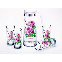 Jesin Borosilicate Glass pot with cups
