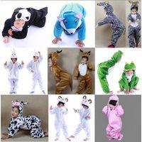 New Pajamas Kigurumi Children's Unisex Cosplay Animal Costume Onesie for Kids thumbnail image
