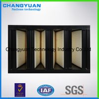 F6 F7 F8 F9 V bank compact filters, air filter for hvac