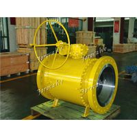 Trunnion Ball Valve API 6D Gear Box operated WCB