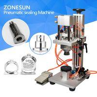 ZONESUN Pneumatic Perfume Bottle Crimping Machine Capping Machine Lid Cap Locking Machine thumbnail image