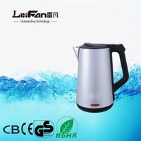 portable double wall food grade electric kettle