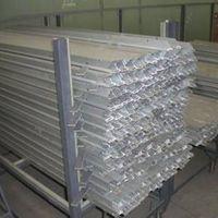 Aluminium frames of solar battery panel