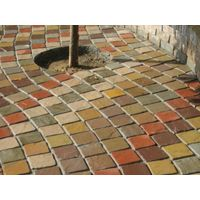 Multi color sandstone cobbles