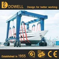 Hot sale Mobile boat hoist yacht lift crane boat hoist for sale