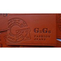 washable genuine leather label for jeans