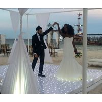 starlit white led dance floor perfect for wedding dj