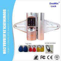 smart card biometric finger print glass door lock