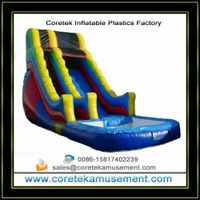 plastic inflatable slide outdoor games thumbnail image