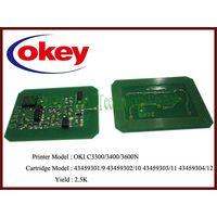 for OKI C3300 chip resetter C3300N/C3400/C3600/3530