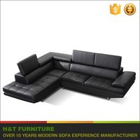Modern l Shape Sofa With Adjustable Headrest Tufted Chaise Sofa H251