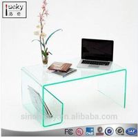 Acrylic Coffee Table With Magazine Rack