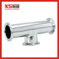 Sanitary Stainless Steel Clamp Straight End Short Equal Tee thumbnail image