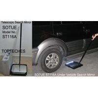 Telescopic search mirror with wheel, under vehicle search mirror, car search mirror