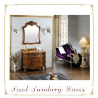classic oak wooden furniture for luxury Bathroom Wall Cabinets