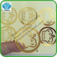 Manufacture costom permanent adhesive transparent labels,clear cosmetic labels