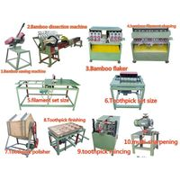 UD-2 bamboo toothpick making machine or bamboo toothpick maker line